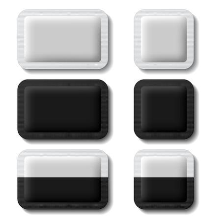 향 주머니 포장 검정, 흰색