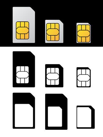sim カードの標準的なマイクロ ナノ アダプター