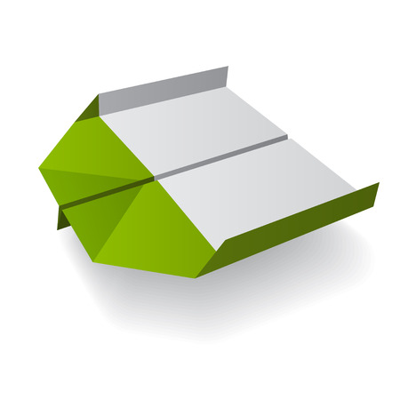 vector origami paper airplane Vector