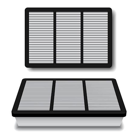 papel filtro: filtro de aire blanco vector