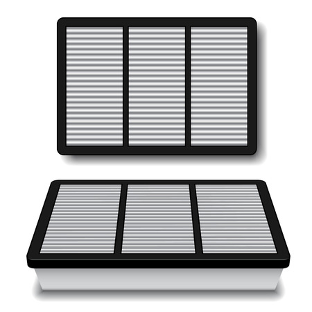 vector white air filter Illustration