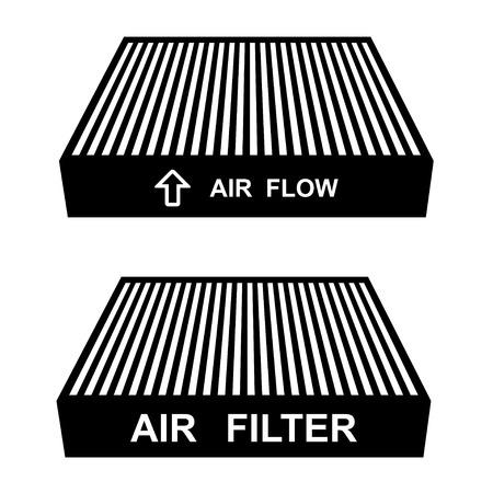 vector luchtfilter symbolen