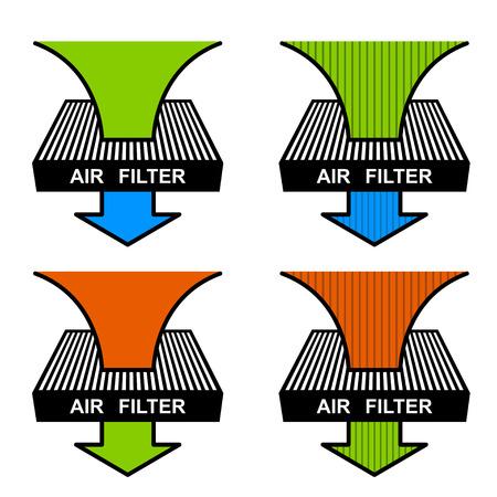 filtración: vector del filtro de aire símbolos