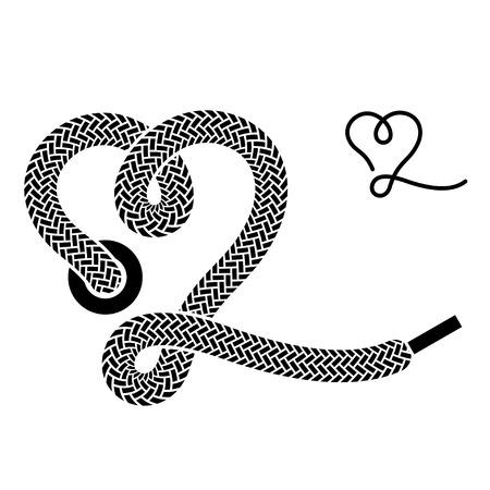 vector shoe lace heart symbol Vector