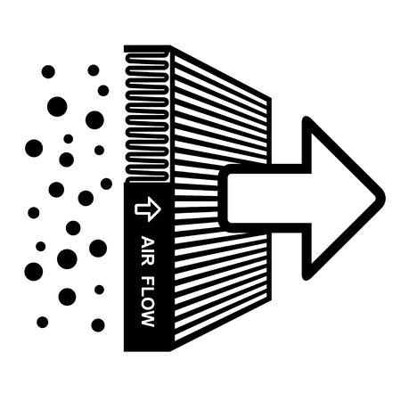papel filtro: filtro de aire vector efecto símbolo