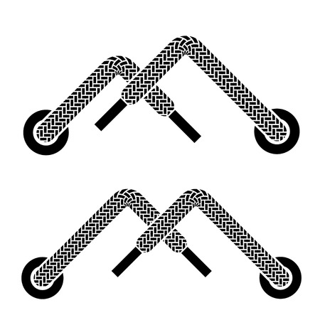 vector shoe lace mountain walking symbols Vector