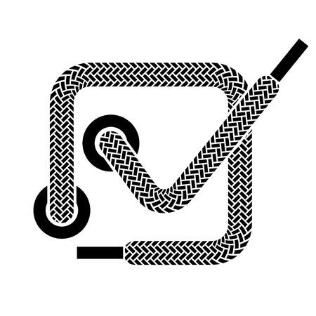 shoelace: vector shoe lace checkmark symbol