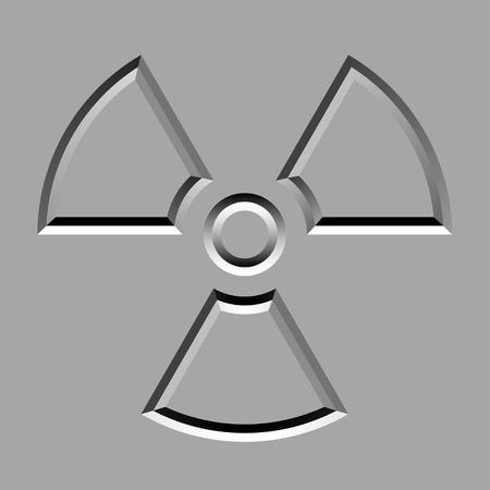 churchyard: vector stone carved radiation symbol
