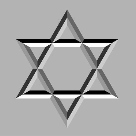 estrella de david: piedra tallada vector david estrella