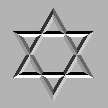 jewry: vector stone carved david star