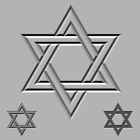 jewry: vector stone carved david stars