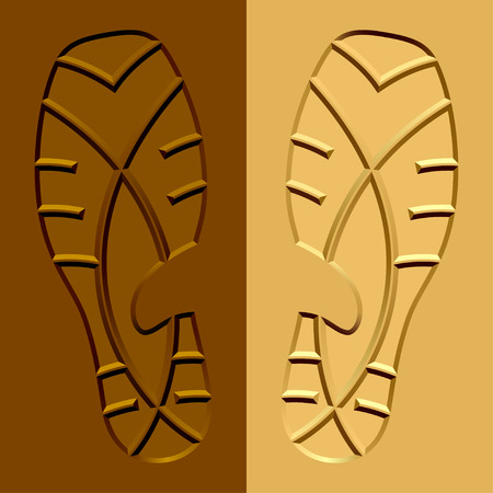 vector shoe imprints mud sand Vector