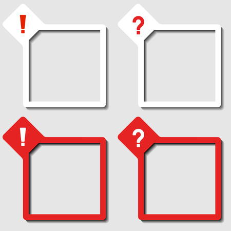 vector paper frames exclamation question mark Vector