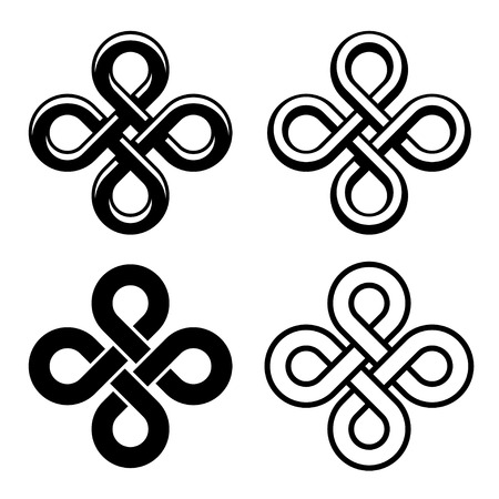 eternally: vector endless celtic black white knots Illustration