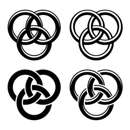 vector Celtic knot black white symbols Vector
