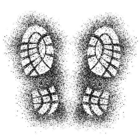 vector spray shoe imprints