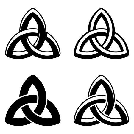 ベクトル ケルト族の結び目黒白いシンボル