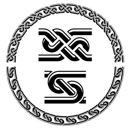 vector seamless ornamental knot frames Vector