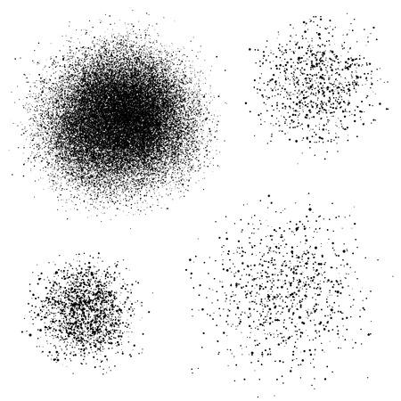 vector de la pintura negro salpicadura spray Vectores