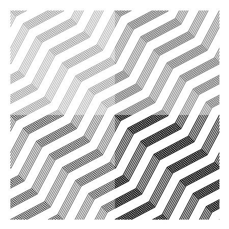 vector line tile seamless black background Vector