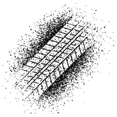 Traccia spruzzo vettore del pneumatico Archivio Fotografico - 35870828