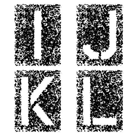 rectángulo: vector de la plantilla cartas de fuente de pulverizaci�n angular IJKL