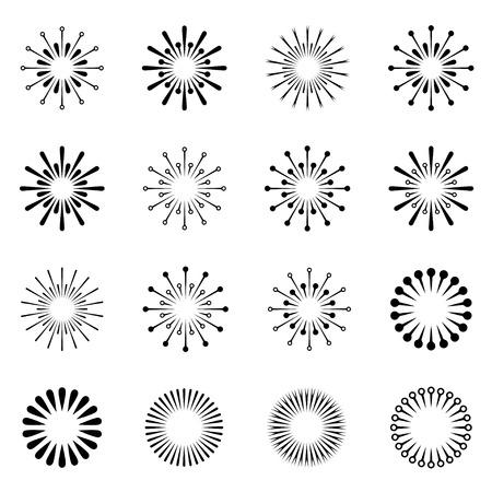 vector starbursts black symbols Illustration