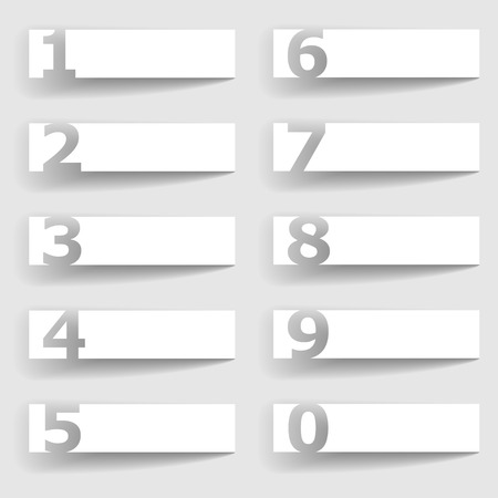 vector blank paper square number options Vector