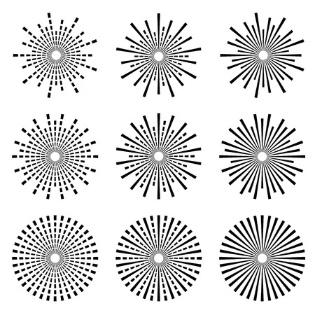 starburst: vector starbursts black symbols Illustration