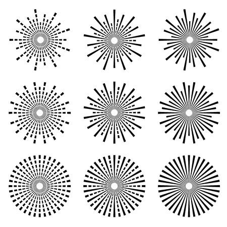 vector Starbursts zwarte symbolen
