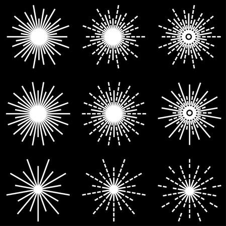 starburst: vector starbursts black white symbols