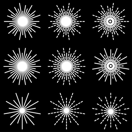 vector starbursts black white symbols