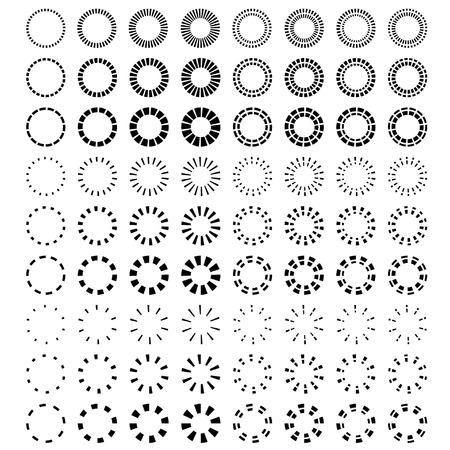 starburst: vector starbursts black symbols Illustration