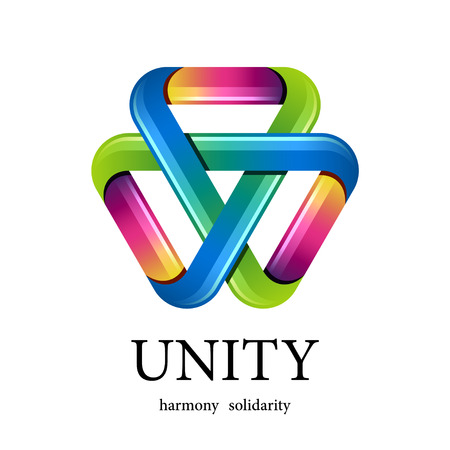 unity: vector unity multicolor triangle icon