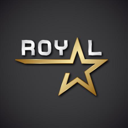 eps10 vector: EPS10 vector royal golden star inscription icon