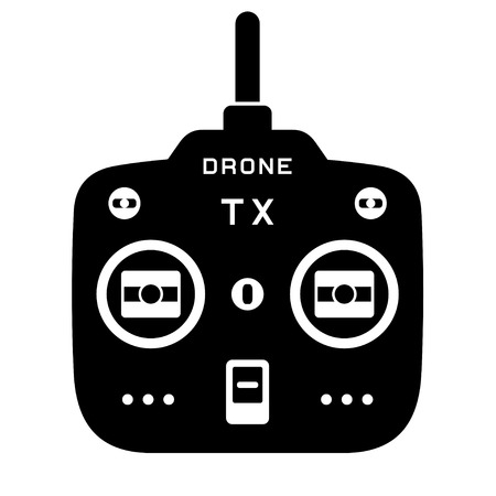 vector rc drone quadcopter tx transmitter black icon