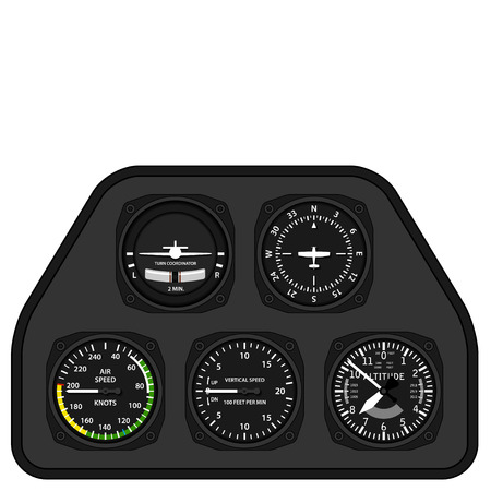 cockpit: vector aviation airplane glider dashboard