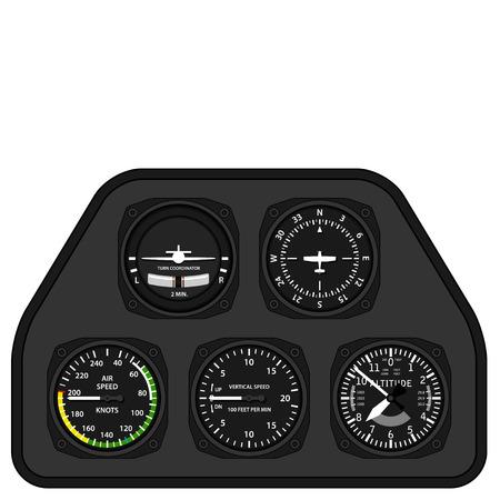 pilotos aviadores: vector de la aviación salpicadero planeador avión Vectores