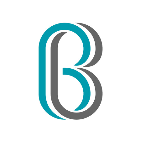 vector twisted letter B icon