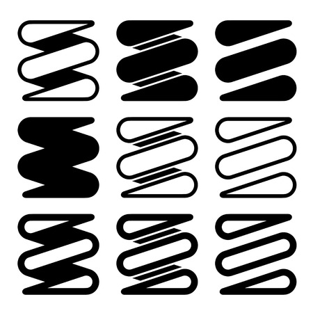 tension: vector tension spring black icons
