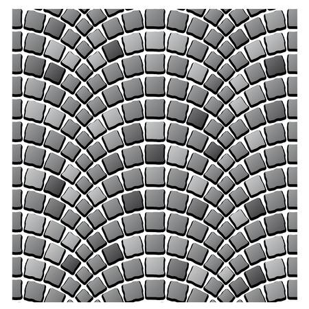 empedrado: vector patrón de pavimento de adoquín sin fisuras