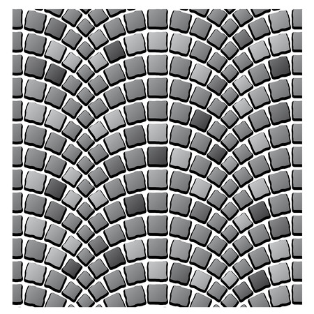 paving: vector seamless cobblestone pavement pattern
