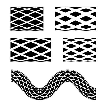 liquid splash: vector black seamless garden hose symbols Illustration