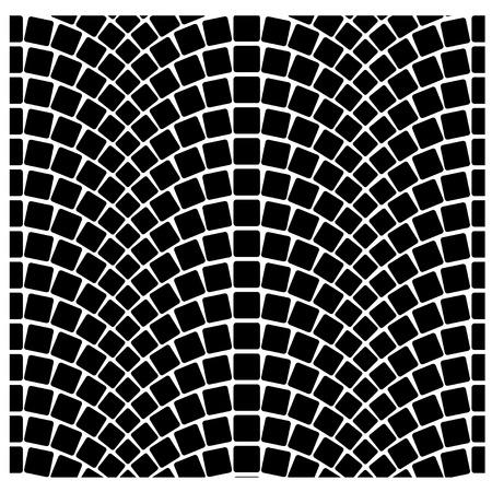 黒シームレスな石畳舗装パターン ベクトル