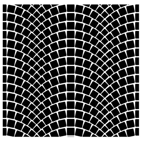 paving: vector black seamless cobblestone pavement pattern Illustration