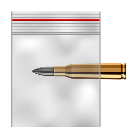 kunststoff: EPS10-Vektor-Nylon transparentem Kunststoff Zip-Lock-Beutel