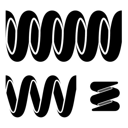 tension: vector tension spring seamless black symbols Illustration
