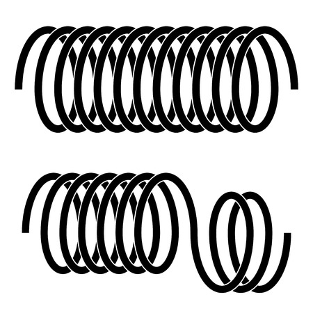 twist: vector tension spring black symbols