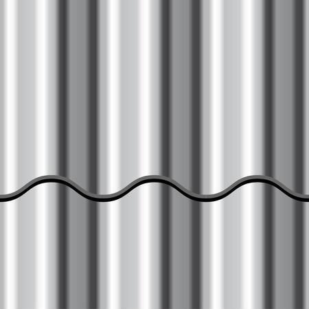 blatt: Vektor-Wellblech glänzendem Metall nahtlose Hintergrund