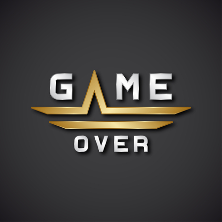 game over: vector game over text icon